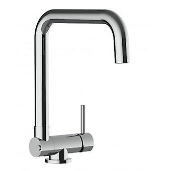 Mezclador de fregadero de cocina de una sola palanca con boquilla plegable de solo 4,5 cm - 349