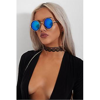Retro Runde Rahmen Sonnenbrille