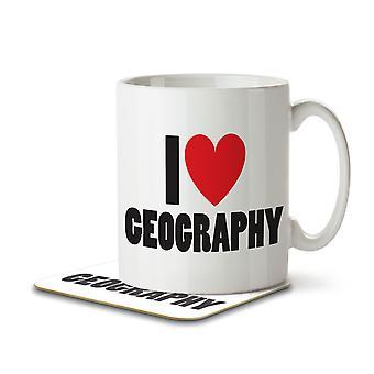I Love Geography - Mug and Coaster