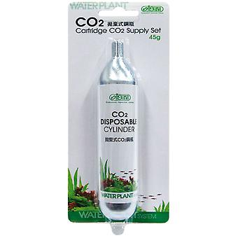 WaterPlant Cilindro Desechable Co2 1Unidades 45 G (魚、メンテナンス、水メンテナンス)