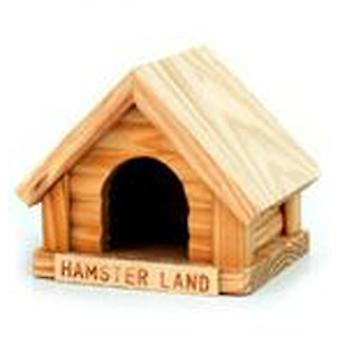 Freedog Wooden house mini (Small pets , Cage Accessories , Maisonnettes et Tunnels)