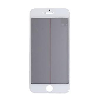 4 In 1 White Top Glass & Frame For iPhone 8 - SE2   iParts4u