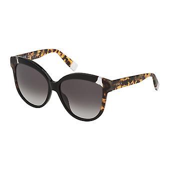 Furla SFU241 700F Shiny Black/Smoke Gradient Sunglasses