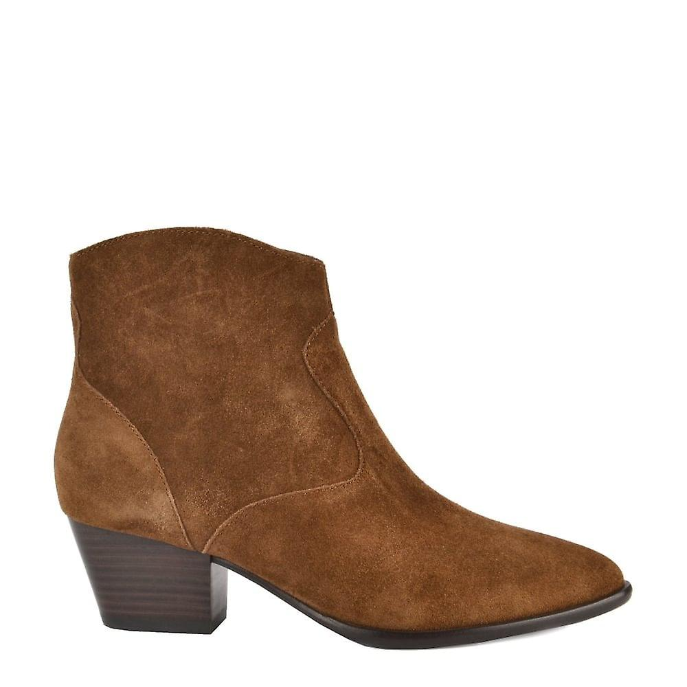 Ash Footwear Heidi Bis Russet Suede Ankle Boot WphT5