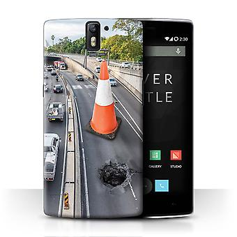 STUFF4 Case/Cover for OnePlus One/Road Works/Down Under