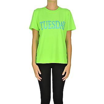 Alberta Ferretti Ezgl095034 Dames's Groen Katoen T-shirt