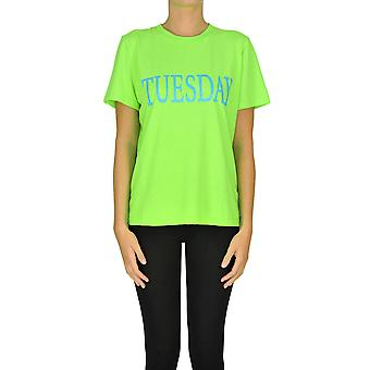 Alberta Ferretti Ezgl095034 Frauen's grüne Baumwolle T-shirt