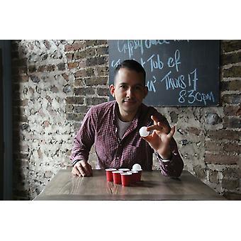 Party Shot Pong - 12 Shot Gafas Bebiendo Juegos para Adultos Fiesta Regalo Idea Diversión