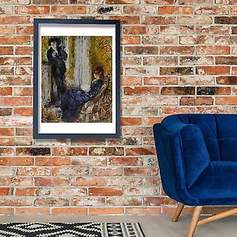 Pierre Auguste Renoir - Au coin de chemine Poster Print Giclée