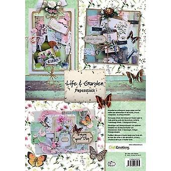 CraftEmotions Paperi pino Life and Garden 11 arkkia A4