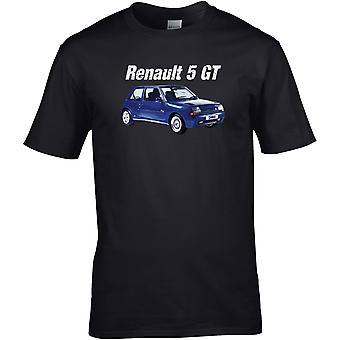 Renault 5 GT Classic - Car Motor - DTG Printed T-Shirt