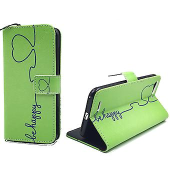Handyhülle Tasche für Handy ZTE Blade V6 Be Happy Grün