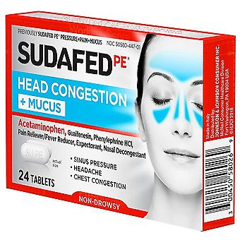 Sudafed pe pressure + pain + mucus for adults, caplets, 24 ea