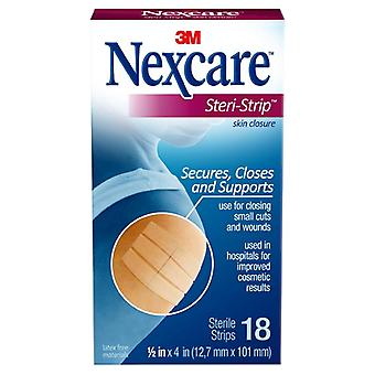 Nexcare steri-strip skin closure sterile strips, 18 ea