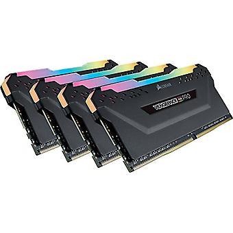 Corsair Vengeance RGB PRO 32 GB (4x8 GB) DDR4 3200MHz C16 XMP 2.0 RGB LED LED megvilágított memória készlet lelkes, fekete