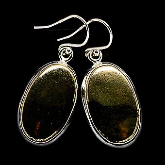 Pyrite In Magnetite (healer's Gold) Earrings 1 1/2