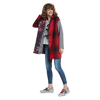 Desigual Mujeres's Londres Tartan & Check Relaxed Coat