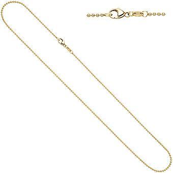 Damen Kugelkette 585 Gelbgold 1,5 mm 42 cm Gold Kette Halskette Goldkette Karabiner