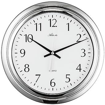 Horloge murale horloge d'Atlanta 459/19 horloge de salle de bains quartz analogique rond