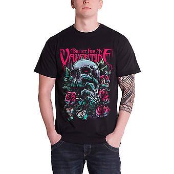 Bullet For My Valentine Mens T Shirt Black Skull Red Eyes Roses Official