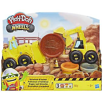 Play-Doh Wheels Excavateur et Chargeur Toy Construction Trucks