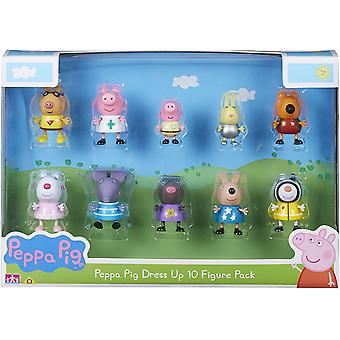Peppa Pig Dress Up 10 Figurenset