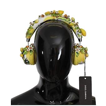 Dolce & Gabbana Lemon Crystal Wireless Leather Headphones -- SMY1811888