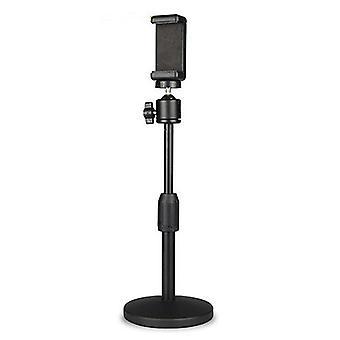 Soporte de teléfono móvil soporte de escritorio en vivo soporte perezoso selfie stick para la cámara dv (plástico)