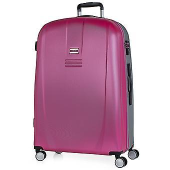 JASLEN Bucarest Damen Trolley L, 4 Rollen, 48 cm, 97,5  L, Pink