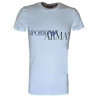 EA7 Miesten Valkoinen Crew Neck T-paita