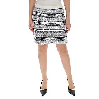 Thom Browne Fkk049a06074982 Women's Grey Cotton Skirt