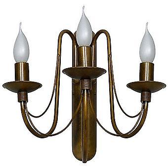 Lampada a Parete Lilium Colore Oro, Rame in Metallo, L49xP40xA33 cm