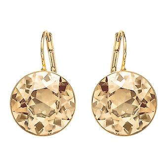 Swarovski Bella Gold Tone Plated & Golden Shadow Crystal Drop Earrings