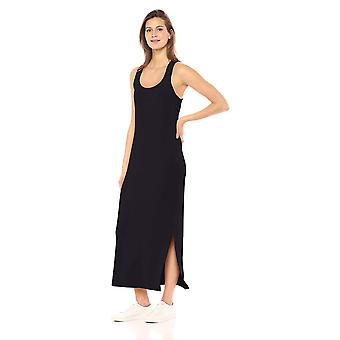 Daily Ritual Women's Supersoft Terry Racerback Maxi Dress, Navy, Small