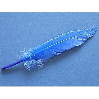 LAST FEW - 24 Royal Blue 11cm Mini Duck Feather Quills for Crafts