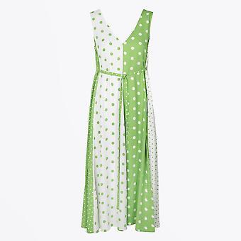 Stine Goya - Yara Polka Dot Dress - Vert/Blanc