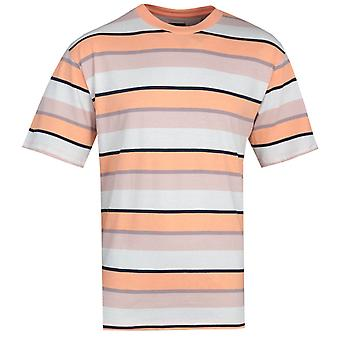 Edwin Quarter Cantaloupe Beige Stripes T-Shirt