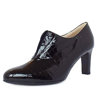 Peter Kaiser Hanara High Top Trouser Shoes In Black Croc Effect Patent