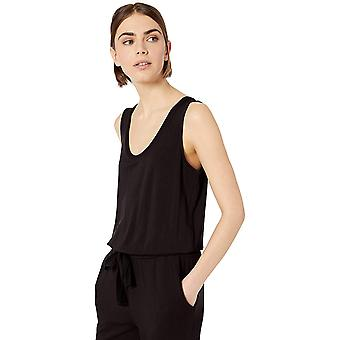Daily Ritual Women's Supersoft Terry Sleeveless Jumpsuit, Nero, X-Large