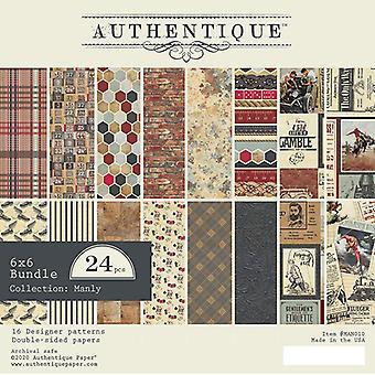 Authentique Manly 6x6 palcový papír pad