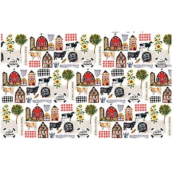 Re-Design com Prima Farm To Table 19x30 Inch Découpage Décor Tissue Paper