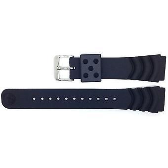 Seiko Z20 20 мм замена черный дайверов часы ремень Da3h1jr по размеру часы Seiko Skx013, Skx015, Skx023