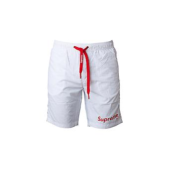 White Men's Supreme Grip Swim Shorts