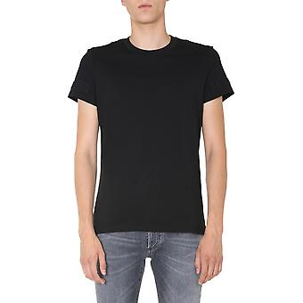Balmain Uh11601i3370pa Män's Black Cotton T-shirt