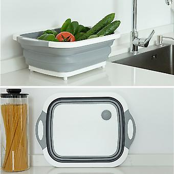 High Quality Foldable Fruit Vegetable Washing Drain Basket For Kitchen & Travel