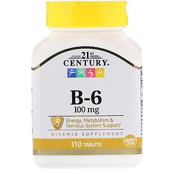 21ème siècle, B-6, 100 mg, 110 comprimés