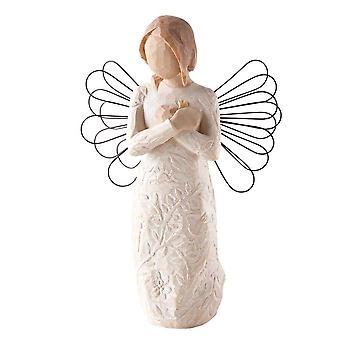 Figurine d'ange de souvenir d'arbre de saule