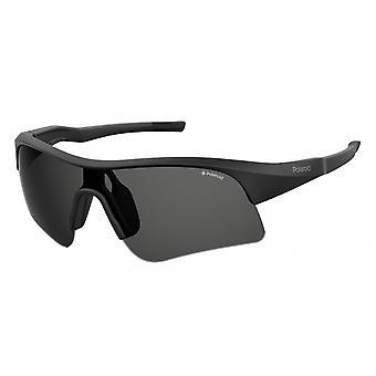 نظارات شمسية للجنسين 7024/S003/M9 رياضي أسود / رمادي