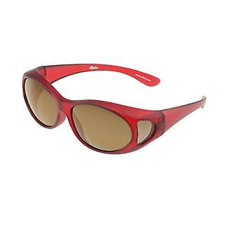 Sunglasses Unisex red with brown lens Vz0002ll