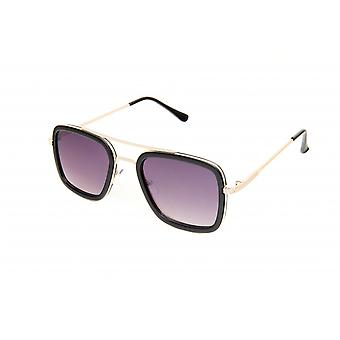 Solglasögon Unisex rektangulär aluminium violett/guld (20-195)
